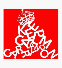 Keep Calm Collapse Photographic Print