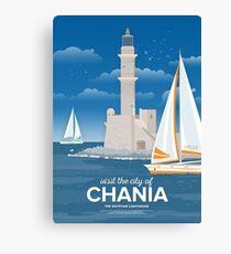 The Egyptian Lighthouse, Chania (GR) Canvas Print
