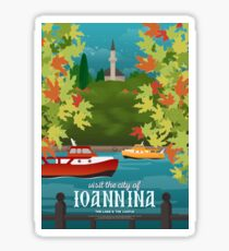 The Lake & The Mosque at the Castle, Ioannina (GR) Sticker