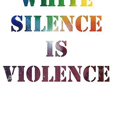 White Silence is Violence Rainbow Space Nebula by riotrainbows
