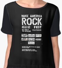 make america rock Women's Chiffon Top