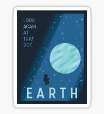 EARTH Space Tourism Travel Poster Sticker