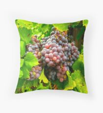Bright Bunches of Grapes for Harvest Throw Pillow