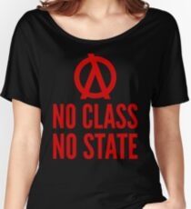 No Class No State Functional Programmer Red Text Design Women's Relaxed Fit T-Shirt