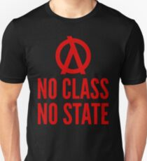 No Class No State Functional Programmer Red Text Design Unisex T-Shirt