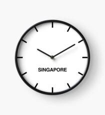 Newsroom Wall Clock Singapore Time Zone Clock