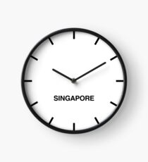 Newsroom Wall Clock Singapore Time Zone Clock
