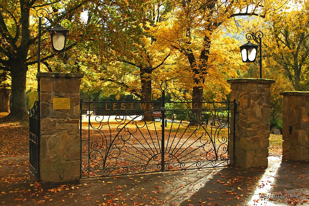 Memorial gates at Bright by Darren Stones