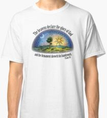 Flat Earth - Psalm 19:1 (The Firmament) White Classic T-Shirt