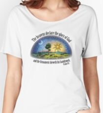 Flat Earth - Psalm 19:1 (The Firmament) White Women's Relaxed Fit T-Shirt