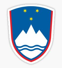 Slovenia coat of arms Sticker