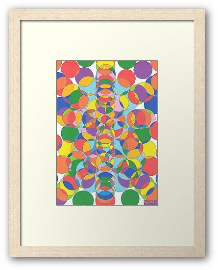 1104 - Colored Circles Vibrant and Alive von tigerthilo