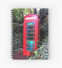 Old 1935 English Abandoned Telephone Box England Spiral Notebook