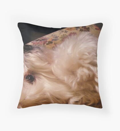 Molly wants a tickle Throw Pillow