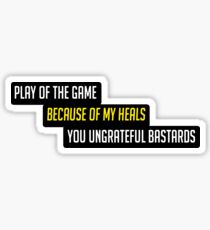 Healer Main Play of the game Sticker