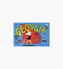 Vintage Greetings from Georgia Art Board