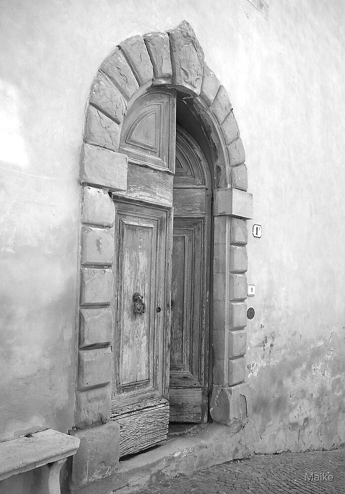 Tuscan Door - B&W - Tuscan Door collection by Maike