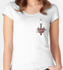 Talmadge Vintage Street Light Women's Fitted Scoop T-Shirt