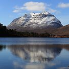 Liathach and Loch Clair Reflections in Panorama by Maria Gaellman