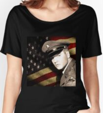 Elvis Presley in the army Women's Relaxed Fit T-Shirt