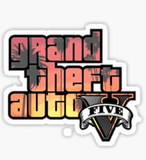 Grand Theft Auto V: Title Text Design Sunset Sticker