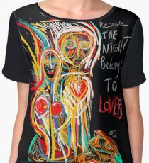 Because the night street art graffiti Chiffon Top