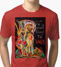 Because the night street art graffiti Tri-blend T-Shirt
