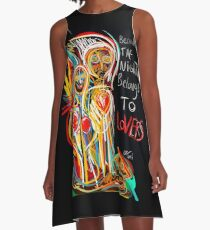 Because the night street art graffiti A-Line Dress
