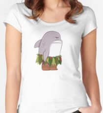 Funny Shark Head Maui Women's Fitted Scoop T-Shirt