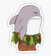 Funny Shark Head Maui Sticker