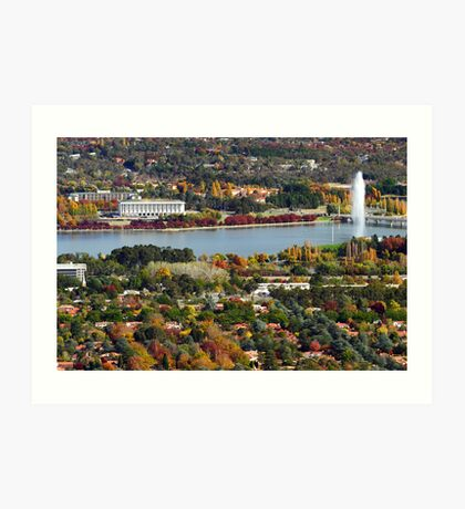 Canberra during autumn Art Print