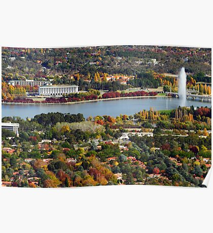 Canberra during autumn Poster