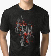 Darkest Dungeon Jester Finale (White Version) Tri-blend T-Shirt