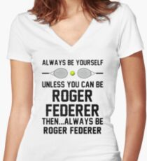 federer betterer Women's Fitted V-Neck T-Shirt