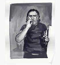 Charles Bukowski Portrait Poster