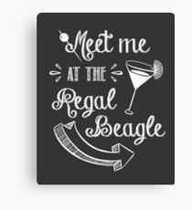 Three's Company TV Show - Meet Me at the Regal Beagle Canvas Print