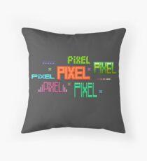 Pixel Text Throw Pillow