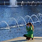 A Fashionable Photographer At The World War II Memorial by Cora Wandel