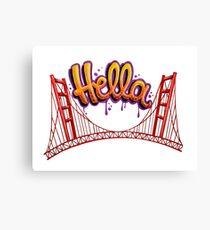 Hella - SF Canvas Print