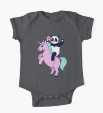 panda loves unicorn One Piece - Short Sleeve