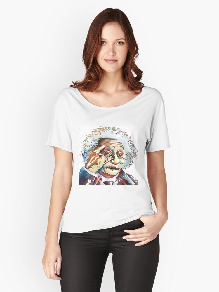 Albert Einstein Women's Relaxed Fit T-Shirt Front