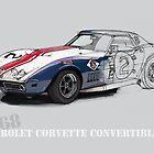 Chevrolet Corvette L88 Handmade drawing by drawspots