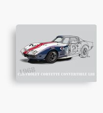 Chevrolet Corvette L88 Handmade drawing Canvas Print