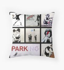 BANKSY MONTAGE 01 Throw Pillow