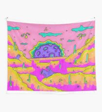 Psychedelic Project - Galaxy - Space - Aliens - High - Rick and Morty poster style Wall Tapestry