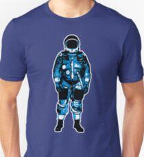 Lone Blue Astronaut Illustration T-Shirt
