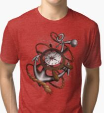 Anchors away with Time Tri-blend T-Shirt