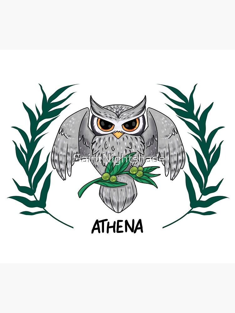 Athena Inspired Cabin Symbol Greeting Card