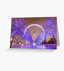 London Christmas Eye Greeting Card