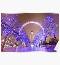 London Christmas Eye Poster
